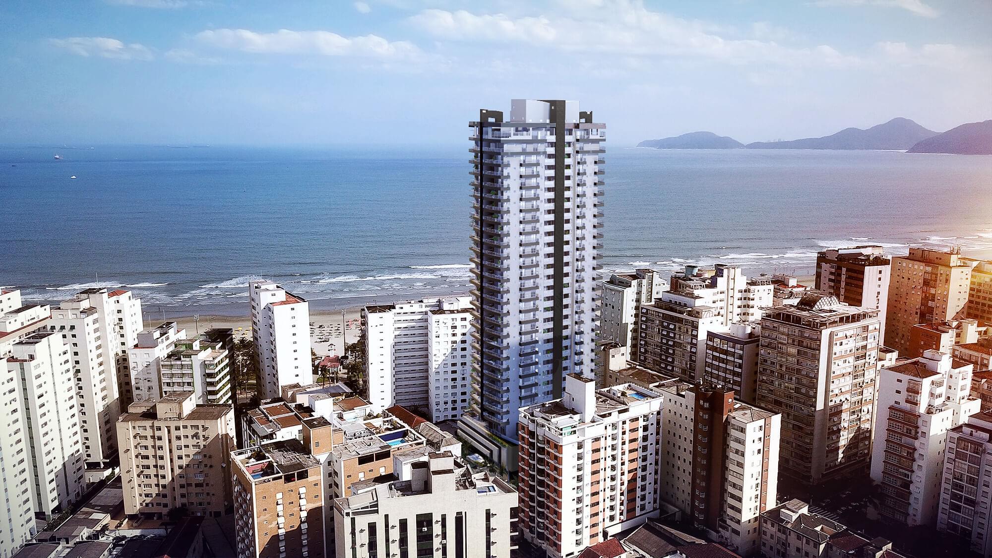 Apartamento com vista para o mar em Santos