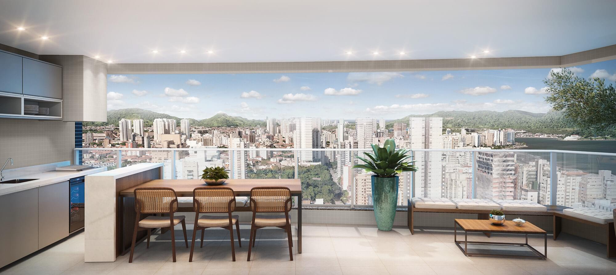 Apartamento novo em Santos